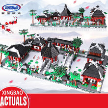 2479pcs 6in1 Suzhou Traditional Garden Building Blocks Compatible Legoed Chinese Architecture Educational Toy Gift Xingbao 01110(China)