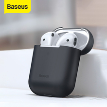 Baseus kulaklık kutusu AirPods için renkli silikon kapak AirPods için 2 1 kablosuz Bluetooth kulaklık kutusu Airpods için 2019