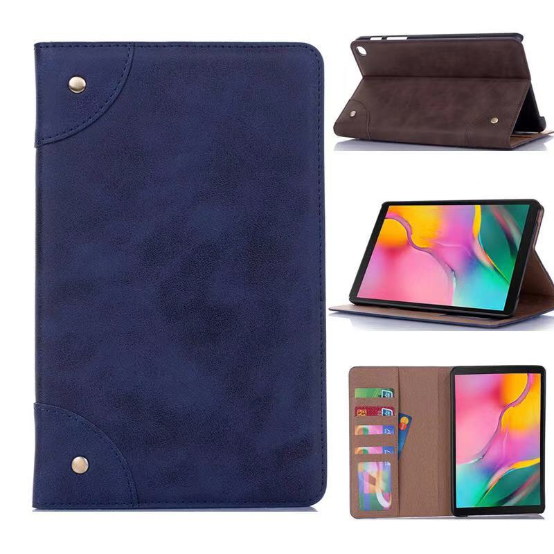 For 2019 Samsung P200 Tab A with S Pen leather flip leather case set 8 inch For Samsung P205 vintage book