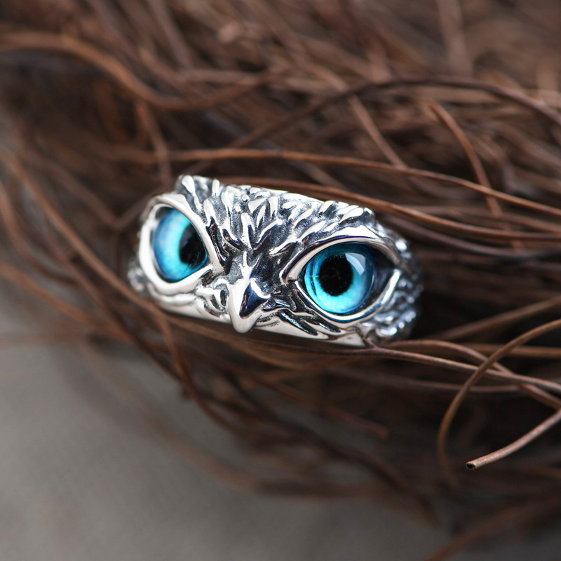 2021 Punk Owl Ring for Women Girl Lovers Retro Animal Open Adjustable Rings Statement Men Gothic Ring Jewelry Gift