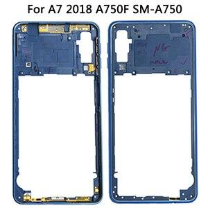 Image 3 - Dành Cho Samsung Galaxy Samsung Galaxy A7 2018 A750 Lưng Pin + Trung Khung + Sim Thẻ Ốp Lưng Thay Thế Mới A750 Full nhà Ở Pin