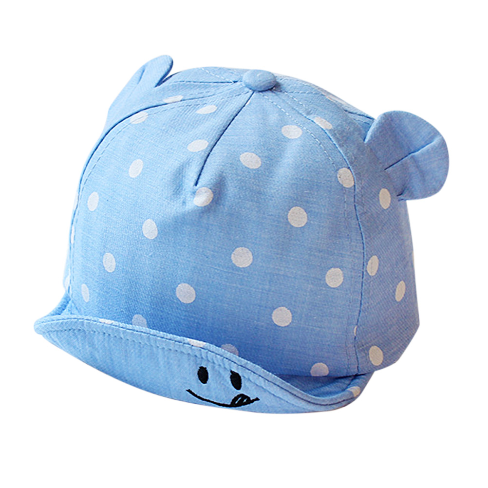 H8282e708efac4c46924946f0d32b0660Q - Children Sun Hats Toddler Cap Cute Dot Baby Caps Girl Boys Sun Hat With Ear For Spring Newborn Photography Props Baseball Cap#20