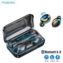 Earphone TWS Bluetooth 5.0 Sports Headset Waterproof Earbuds HIFI Mini Call HD FDGAO