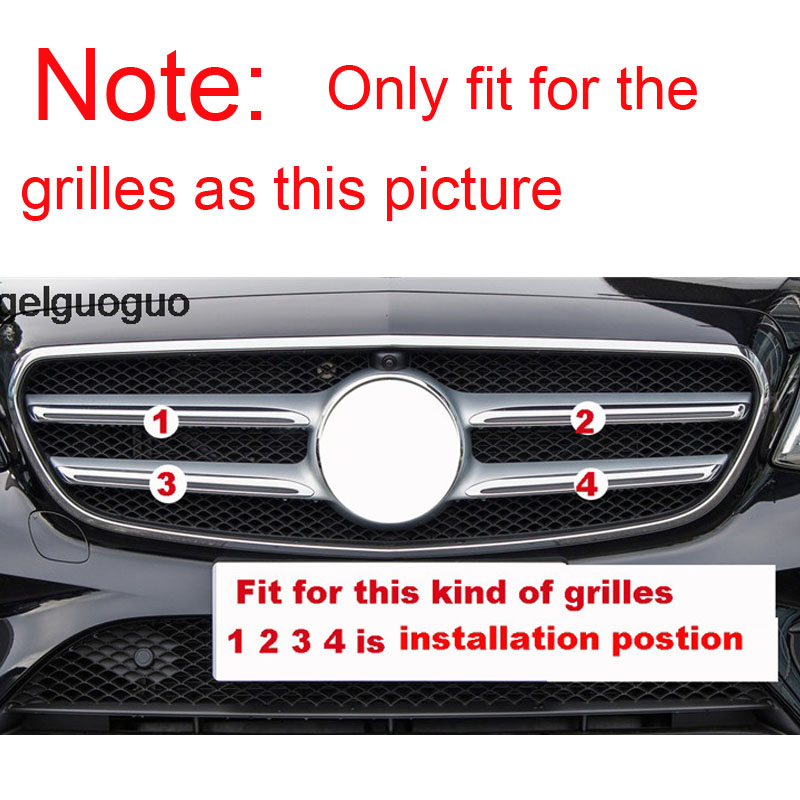 Angelguoguo Car Front Grille Bumper Trim Decoration cover sticker For Mercedes Benz E Class W213/ C Class W205/ GLC X253 Sport-in Interior Mouldings from Automobiles & Motorcycles    3