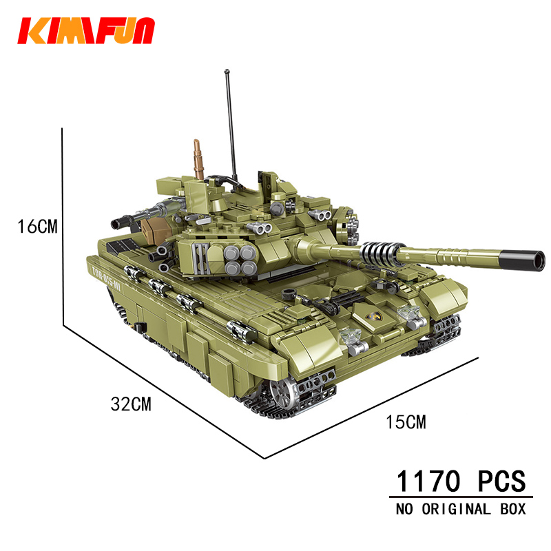 <font><b>1000</b></font> <font><b>pcs</b></font> Military Tank Model Building Blocks Army Soldier Weapon Bricks Children Toys Simulated War Machine Compatible Blocks image