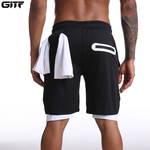Men 2 in 1 Running Shorts Jogging Gym Fitness Training Quick Dry Beach Short Pants Male Summer Sports Workout Bottoms Clothing(China)