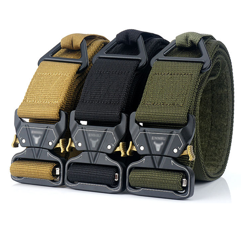 Military Tactical Belt Nylon Zinc Alloy Buckle Combat MOLLE Users Adventure Hiking Camping Wearable Breathable Men Women Belt