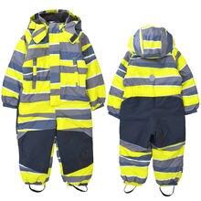 Детский зимний уличный комбинезон лыжный костюм ветрозащитный