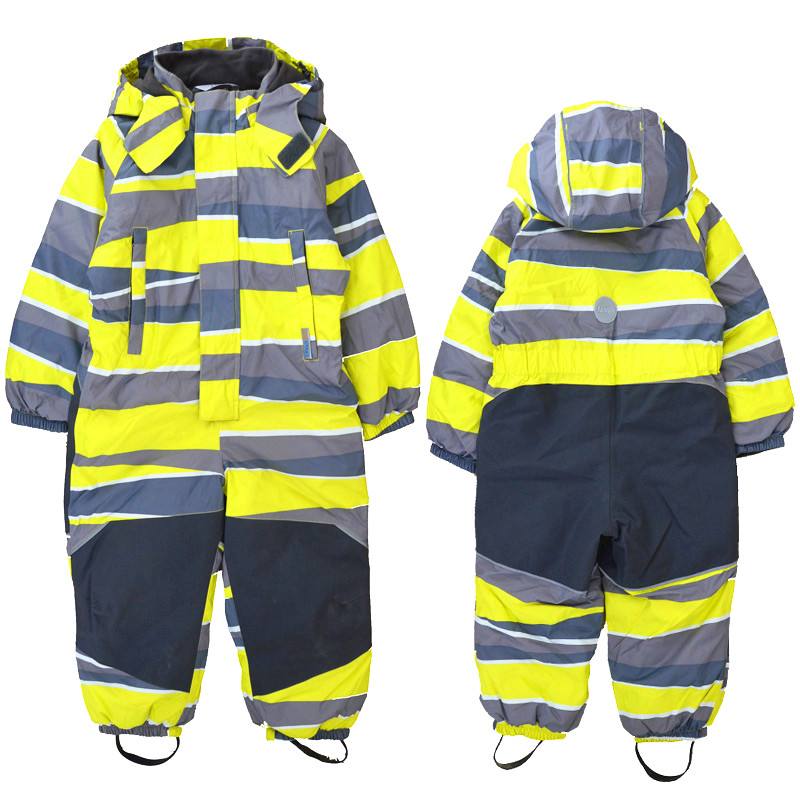 Children's Winter Outdoor Jumpsuit Ski Suit Windproof Snow And Water Plus Velvet Ski Jumpsuit