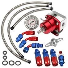 Universal ajustável regulador de pressão combustível óleo 160psi calibre um 6 extremidade montagem mangueira kit