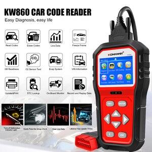 Image 2 - KONNWEI KW860 Automotive Scanner Tools OBD2 Scanner Diagnostic Tool Scanner Car Engine Code Reader OBD2 Full Mode Upgraded KW850