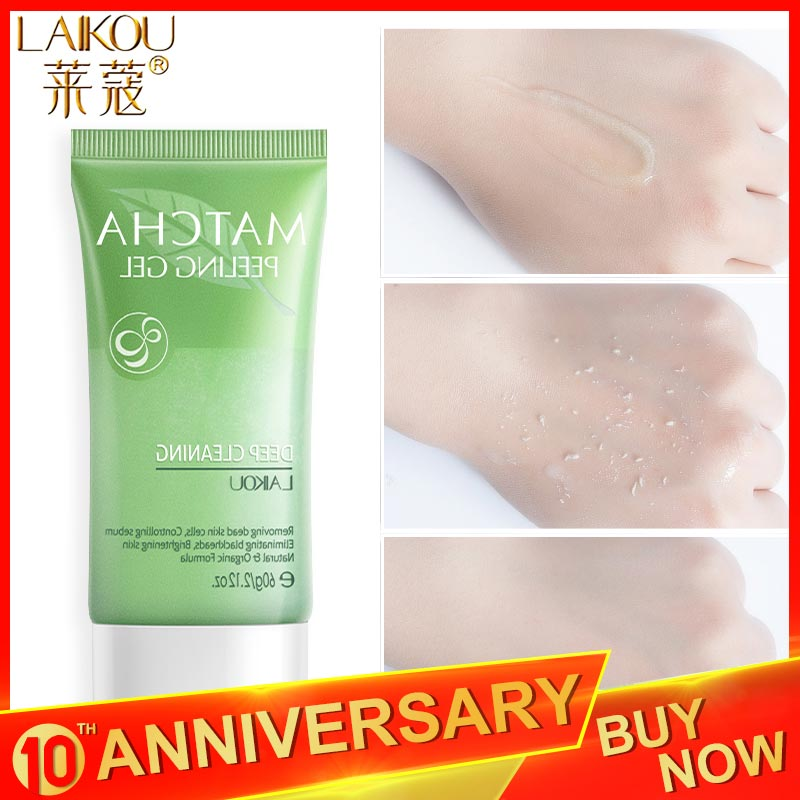 LAIKOU Matcha Exfoliating Peeling Gel Facial Scrub Moisturizing Whitening Nourishing  Repair  Scrubs Face Cream Skin Care