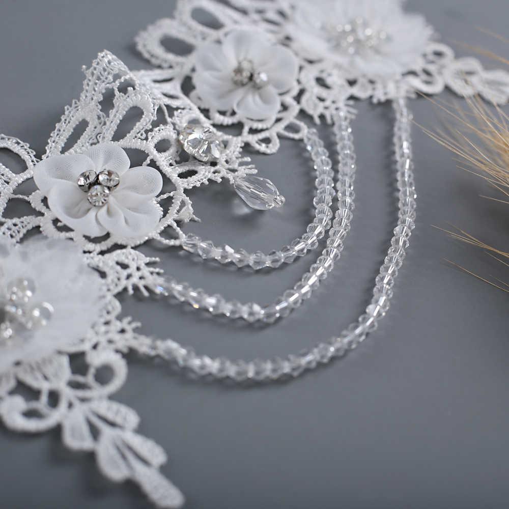 TRiXY G04 פרח חתונה נוצצת שמלת כלה לעטוף אלגנטי צעיף חתונת קייפ נשים אירוע מיוחד צעיף הכלה קייפ