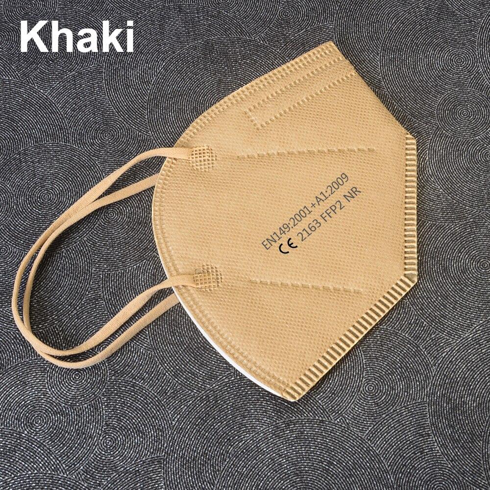 6 couches KN95 masque visage FFP2 masque bouche Maske masques de sécurité doux 95% Filtration pm2.5 masque ffp2masque anti-poussière certification CE 5