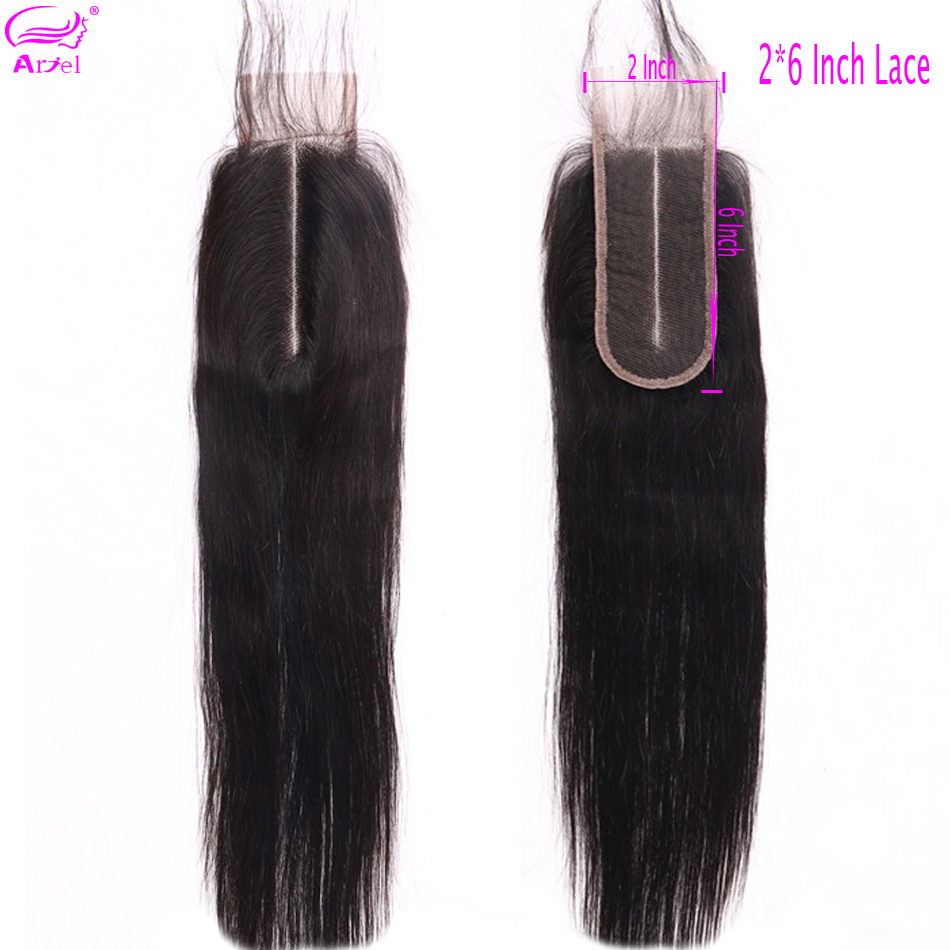 2x6 Closure Lace Closure Straight Closure Pre Plucked Middle Part Closure Brazilian Remy Closure 2x6 Human Hair Closure Ariel