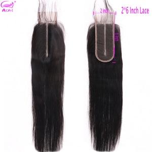 2x6 Closure Lace Closure Straight Closure Pre Plucked Middle Part Closure Brazilian Remy Closure 2x6 Human Hair Closure Ariel(China)