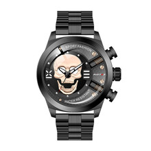 Mens Watches Skull Stainless Steel Leather Belt Quartz Wristwatches Fashion Waterproof Creative Personality Watches Mens Gifts good quality fasion mens ip gold plating quartz wristwatches stainless steel watches 3 colors available