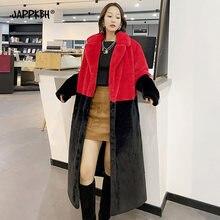 Женское пальто с искусственным мехом Осень зима 2020 Длинные