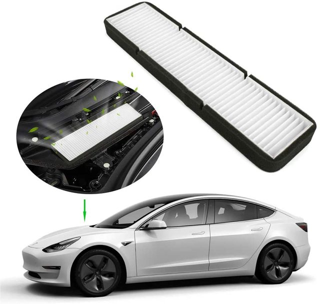 Car Air Conditioner External Intake Filter Element Air inlet screen For Tesla Model 3 Model Y 2017-2020 effective blocking PM2.5 1