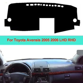 Samochód wnętrze deska rozdzielcza pokrywa mata na deskę rozdzielczą dywan poduszki parasol przeciwsłoneczny deska rozdzielcza Pad dla Toyota Avensis 2005 2006 LHD RHD Car Styling tanie i dobre opinie ZJZKZR z włókien syntetycznych For Toyota Avensis 2005 2006 LHD RHD