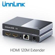 Unnlink 1 إلى العديد من موسع HDMI 120M مع الإخراج المحلي FHD 1080P @ 60Hz IP/TCP CAT6/7 شبكة LAN RJ45 إيثرنت IR لنقل التلفزيون