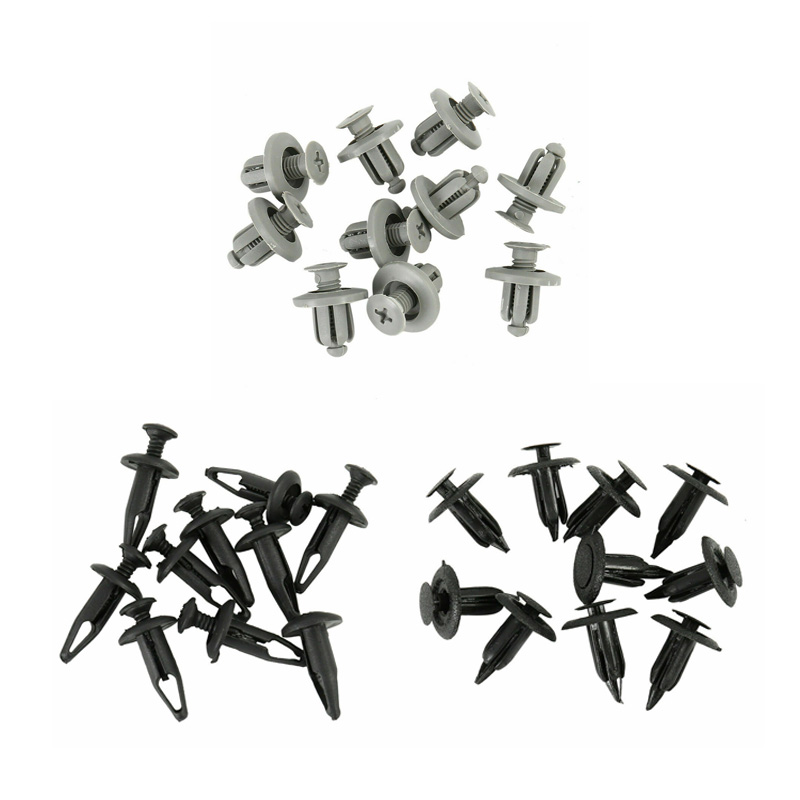 Image 2 - 100x Plastic Rivets Kit 6mm 7mm 7.5mm 8mm 9mm Universal Fastener Clips Car Fender Body Bumper Retainers Door Trim Panel Push Pin-in Auto Fastener & Clip from Automobiles & Motorcycles