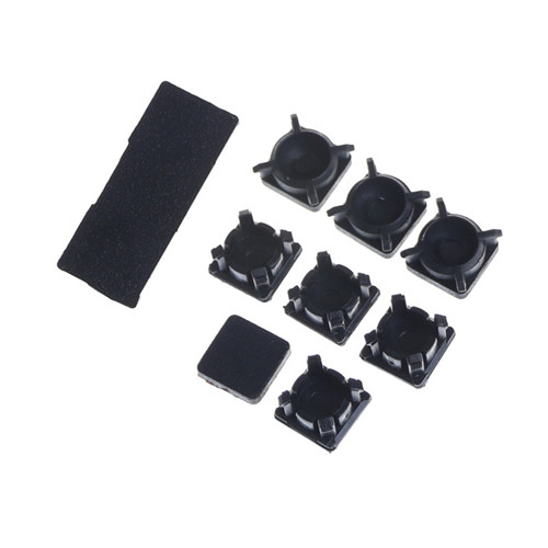9pcs Rubber Feet&Plastic Button Screw Cap Cover Replacement Set For PS3 Slim 2000 <font><b>3000</b></font> For Sony Playstation <font><b>3</b></font> Controller image