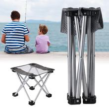 Folding Stool Camping Outdoor Chair For BBQ Fishing Travel Hiking Garden Beach Oxford Cloth Seat