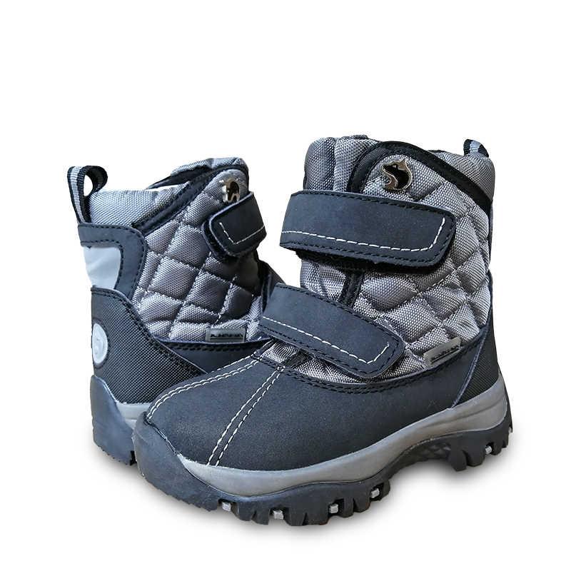 Yeni 1 çift çocuk çocuk Boy doğal yün kış sıcak çizme çocuk moda kar botu, kayak botu-30 veya-40 derece