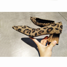 EOEODOIT Sexy Leopard Work Heels Shoes Women Spring New Arri