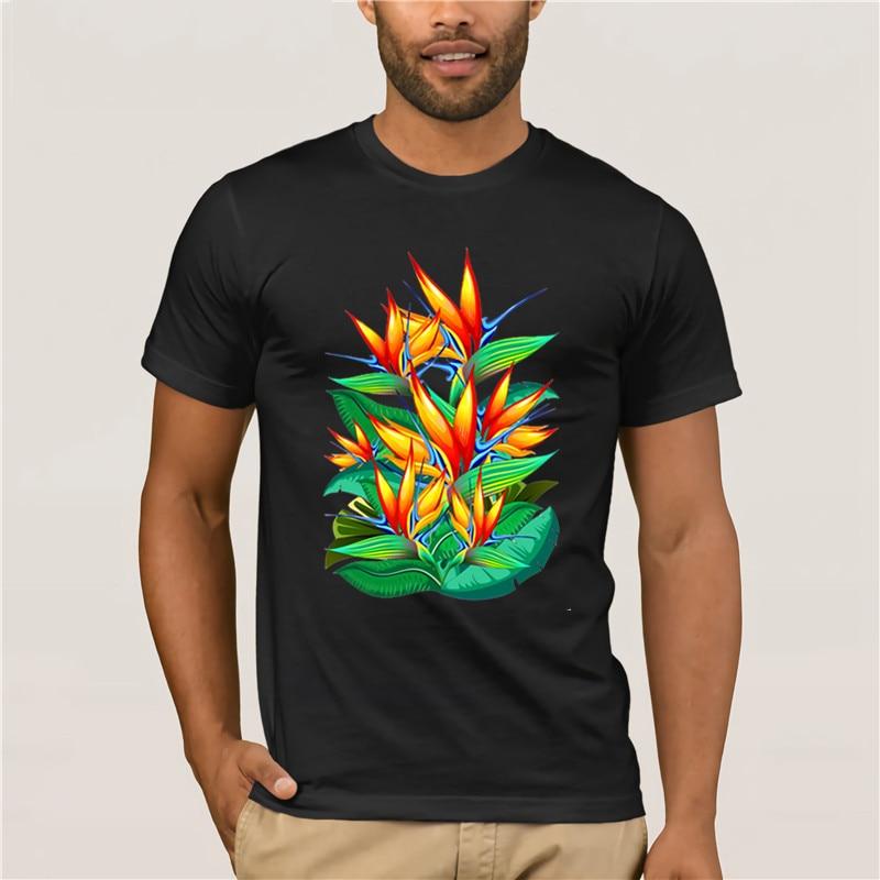 Casual Short Sleeve Graphic Tee Shirts,Bird of Paradise Flower Fashion Personality Customization