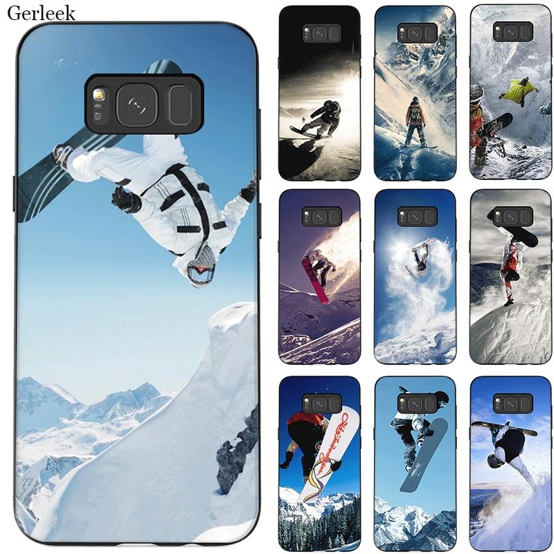 Snow Or Die Ski Snowboard Sport Phone Case Tpu for Samsung Note 10 8 9 S6 S7 Edge S8 S9 S10 S10E Plus M10 M20 M30 M40 Cover