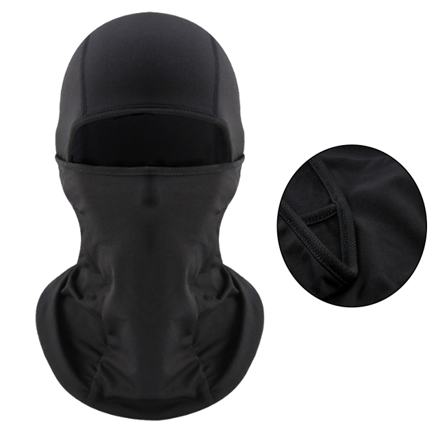 Universal Motorcycle Face Mask Balaclava Warm Windproof Breathable Cycling Ski Face Shield Helmet Mask Black