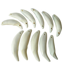 GY01 Tibetan Wild Dog Teeth Natural Fangs Wolf Tooth Amulet Charm Pendants Hot Selling Jewelry Accessory Wholesale 100pcs