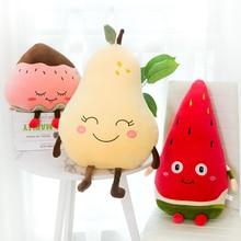 Cute Fruit Stuffed Doll Watermelon Strawberry Pear Plush Toys Kawaii Room Sofa Decor Pillow Cushion For Kids Girl Children Gift
