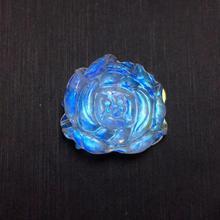 Top Natural Moonstone Blue Light Stone Flower Pendant 18x18x6mm Gemstone Women Men Love Gift Crystal Healing AAAAA Necklace