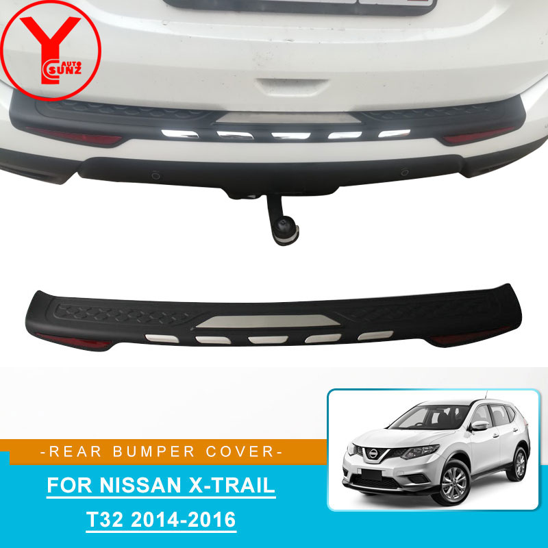 ABS rear bumper cover For nissan x trail t32 2014 2015 2016 car styling parts accessories For nissan x trail t32 xtrail YCSUNZ|Chromium Styling| |  - title=