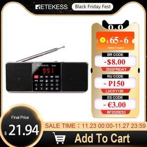 Image 1 - RETEKESS TR602 Radio Bluetooth AM FM ricevitore Radio portatile Stereo con lettore MP3 Wireless supporto per altoparlanti TF Card Sleep Timer