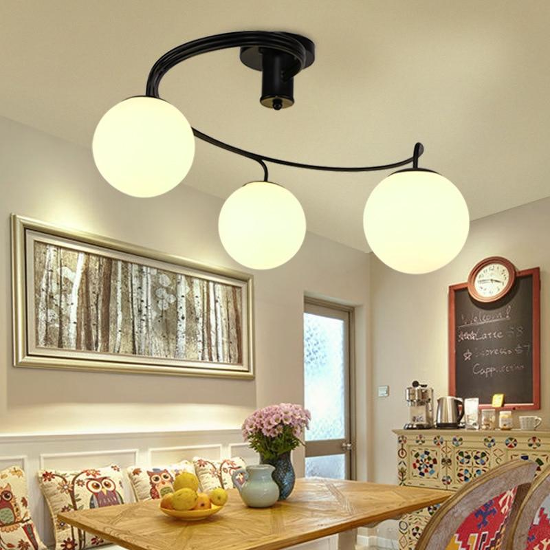 American-Style Village Living Room Lights Ceiling Modern Minimalist LED Restaurant Light European Style Children Bedroom Room Li
