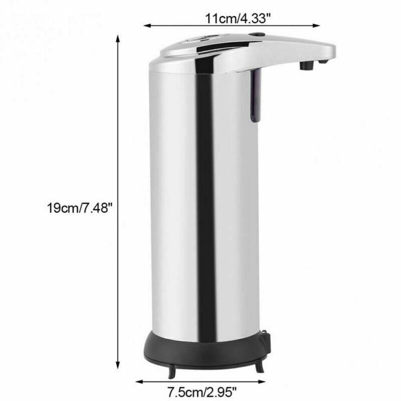 250ml-Stainless-Steel-Automatic-Soap-Dispenser-Handsfree-Automatic-IR-Smart-Sensor-Touchless-Soap-Liquid-Dispenser (5)