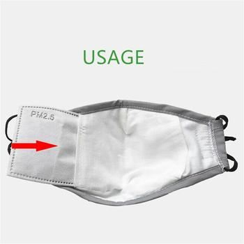 5 Layers Filter Face Mask PM2.5 Face Mask Filter Activated Carbon Breathing Filters Adult Mouth Mask Activated Carbon Dropship