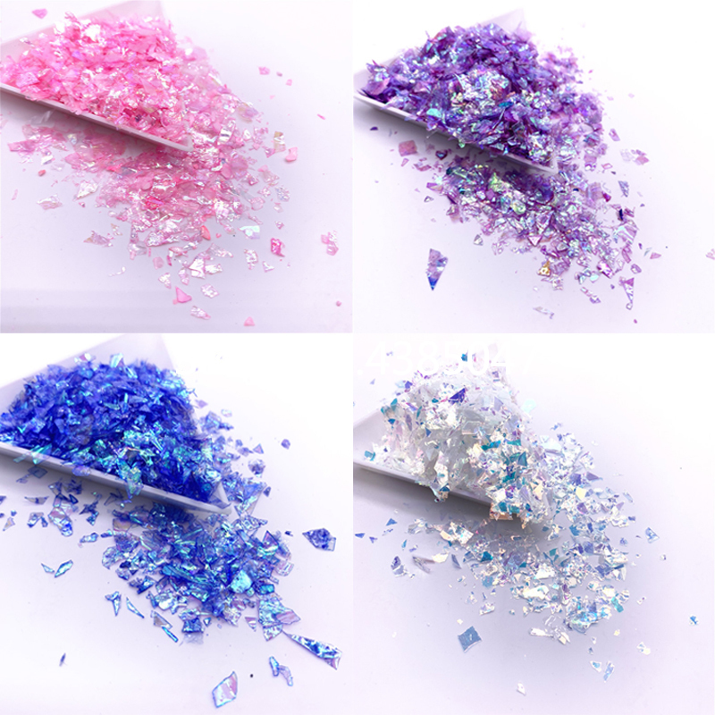 Irregular Sugarl Paper Sequin DIY Jewelry Accesorries Colorful Paillettes Glitter Nail Art Sequins For Decoration 20g/pack