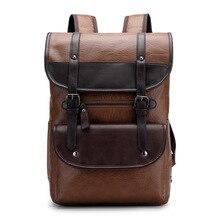 Mochila para portátil de cuero de gran capacidad, mochila Vintage para Universidad, cómodo, ligero, para viajes, senderismo