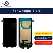 עבור Oneplus 7 pro LCD AMOLED LCD תצוגת מסך מגע Digitizer עצרת עבור Oneplus תצוגה מקורי