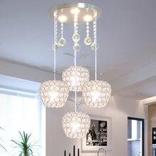 Современный минималистичный светодиодный светильник с тремя кристаллами для ресторана, столовой, креативный светильник с одним балконным проходом, барная люстра
