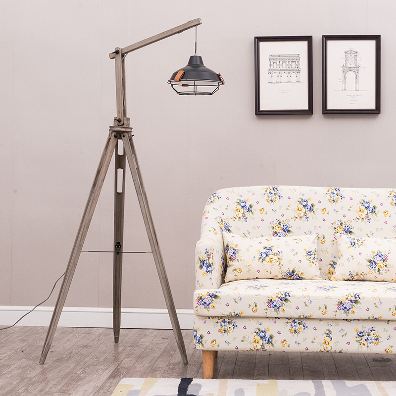 Modern Wooden Floor Lamp Tripod Fabric Lampshade Chinese Classical Floor Light European Floor Lamps for Living Room Tall Lamp|Floor Lamps| |  - title=