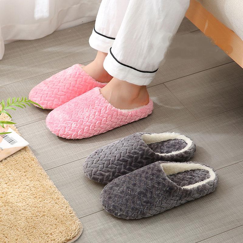Fashion Autumn Winter Women Slippers Bottom Soft Home Slippers Unisex Indoor Slip-On Slides Shoes For Couple Women's Slippers