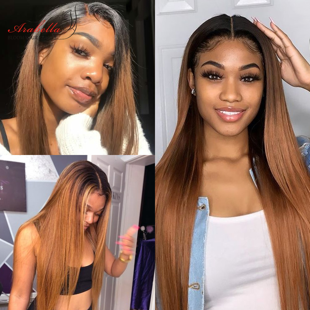 613 Lace Frontal Wig 100%  Wigs Arabella Long Straight Wig Pre Plucked 13x4   Blonde Bob Lace Front Wig 6