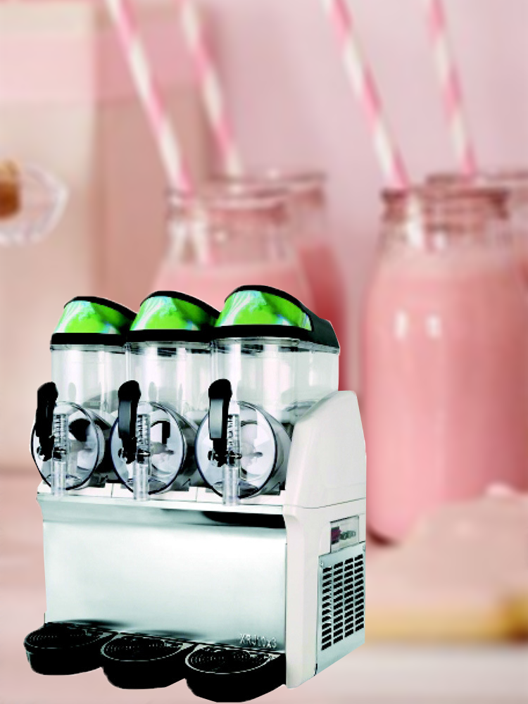 Cold-Drink-Machine Sand Commercial Stirring Three-Cylinder-Juice Self-Service