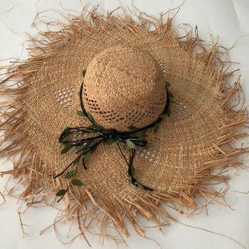 ZJBECHAHMU Fashuon Solid Vintage Straw Sun Hats For Women Girl Summer Cap Outdoor holiday sunshade beach folding hat New fedoras фото